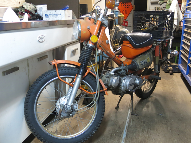 Done!  New brakes, rebuilt engine and carburetor, and a new gas tank.  Ready to roll.