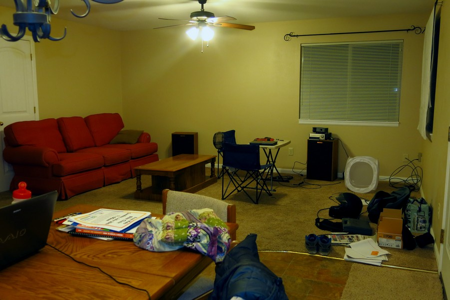 Our living room, a slight work in progress but never-the-less comfortable.