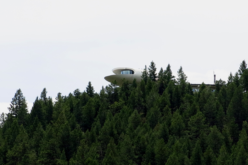 Here is a crazy house built up on the hill in Genesee.  It looks like something from The Jetsons.