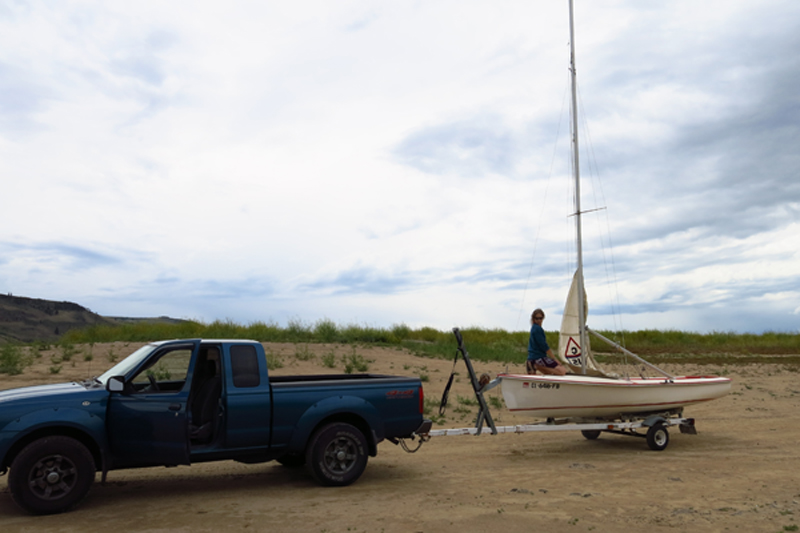 Rigging and getting ready to launch our new boat for the first time at Blue Mesa reservoir.
