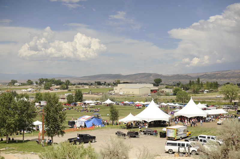 The view of the festival from up on the hill.