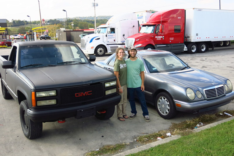 Both of our new vehicles right after we purchased the truck in Tennessee.