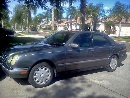 Here is the Mercedes I found in Florida. It looks way better in the photo than it actually does in person, but never-the-less it got us nearly 2000 miles across the country and the only time it let us down was 1 time with a dead battery-because it was a bad battery.