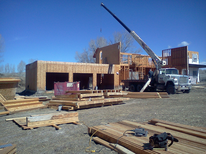 In the middle of our first day of work taking the entire 2nd story walls down.
