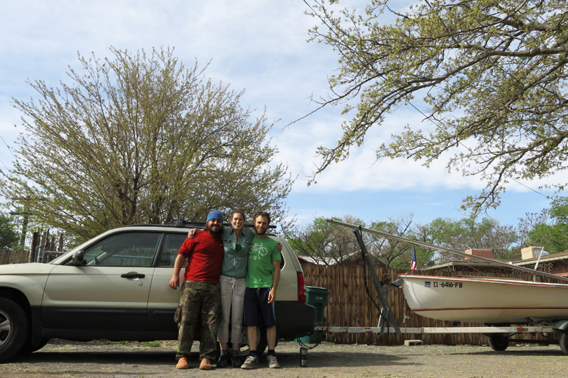 Getting ready to go sailing in New Mexico.
