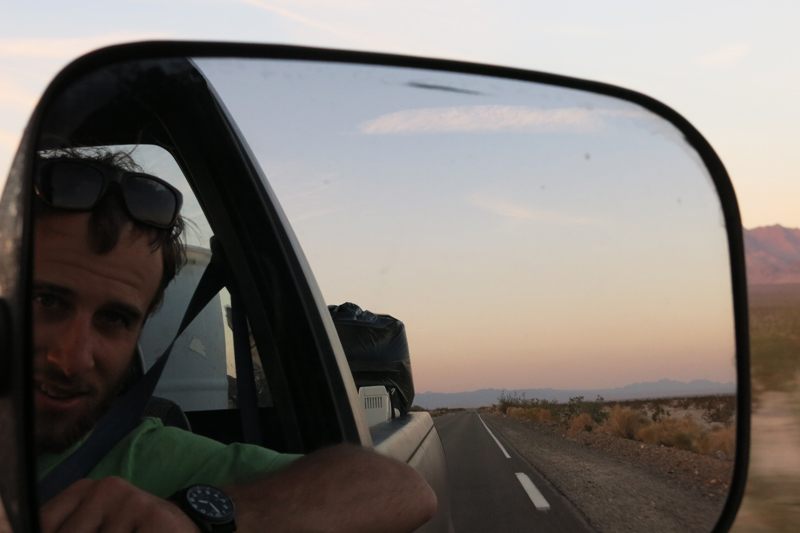 On our way to Joshua Tree as the sun began to set.