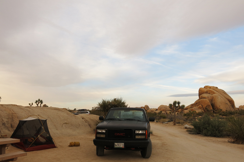 Our camp site in Joshua Tree National Park.