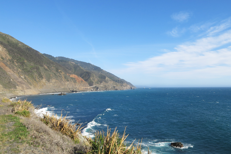 The California coast along RT1