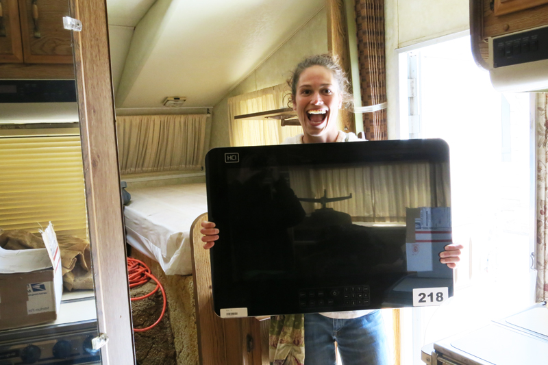 Our new TV from the surplus auction.