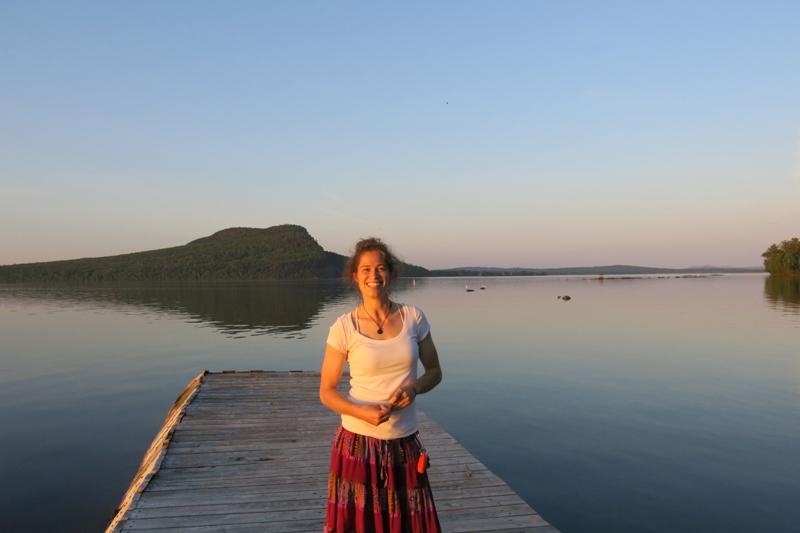 Enjoying Moosehead Lake and Mt. Kineo in the background.