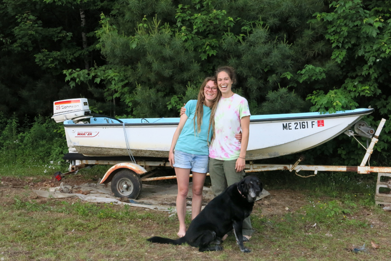 We decided to buy a boat, Adrienne go to visit with her fine friend Mary and our finest friend Patrick the dog.